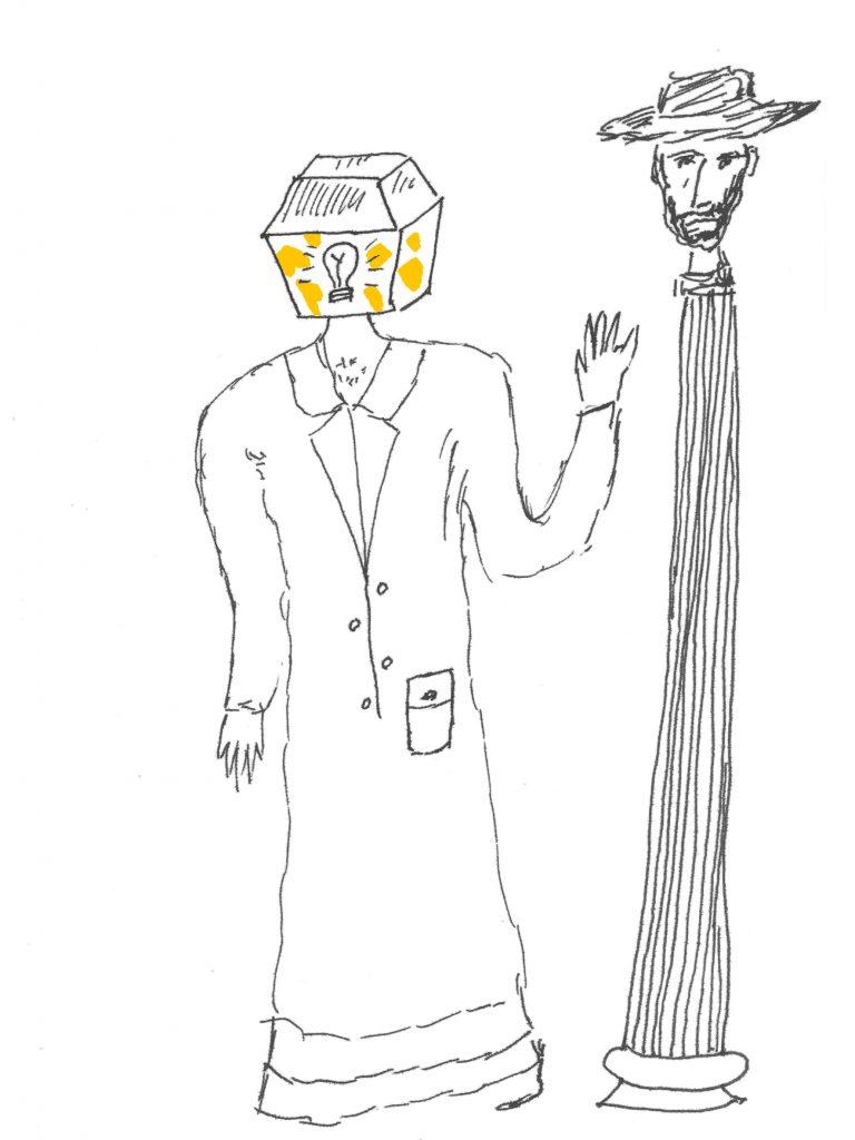 Dibujo del «Cuaderno azul y blanco»